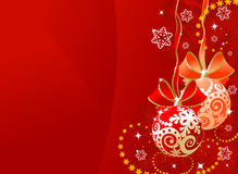 Christmas sphere. Vector illustration abstract background Stock Photos
