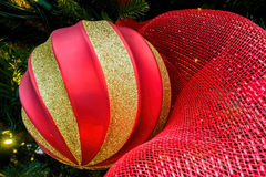 Christmas sphere or bauble stock images