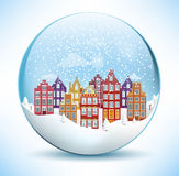 Christmas Sphere - City (Amsterdam) Royalty Free Stock Photography