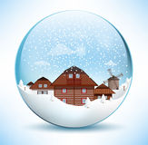 Christmas sphere - old village Stock Photo