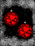 Christmas sphere with ornament Stock Images