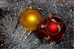 Christmas spheres Stock Photography