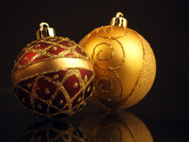 Christmas spheres Stock Photos