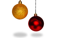 Christmas spheres. Close-up isolated on white background Royalty Free Stock Photos