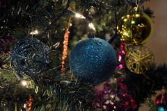 Christmas spheres stock images