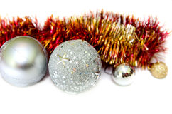 Christmas spheres isolated Royalty Free Stock Image