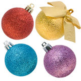 Christmas spheres with a rough surface set Royalty Free Stock Image