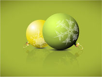 Christmas spheres with snowflakes ornaments Royalty Free Stock Photography