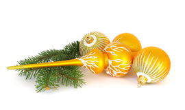 Christmas spheres and vertex Royalty Free Stock Images