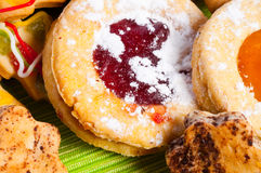Christmas spice-cakes. Biscuit, brown, chocolate Stock Images