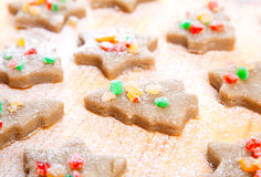Christmas spice-cakes. Christmas chocolate spice-cakes. bakebackground Royalty Free Stock Photography