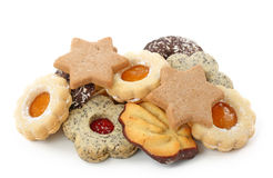 Christmas spice-cakes. Isolated on white background Royalty Free Stock Photography