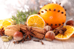 Christmas spice. Close up on christmas spice stock photography