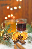 Christmas spiced drinks royalty free stock images