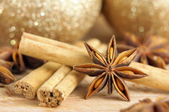 Christmas spices Royalty Free Stock Photos