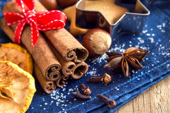 Christmas spices Stock Photo