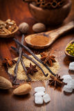 Christmas spices and baking ingredients Stock Photo