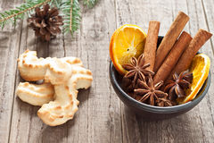 Christmas spices. In a bowl Royalty Free Stock Images
