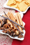 Christmas spices and cookies. Still life. Christmas spices and cookies on the decorative table. Still life Stock Image