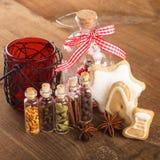 Christmas spices Stock Photos