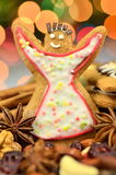 Christmas spices, nuts, cookies and dried fruits Stock Photo