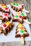 Christmas spicy cookies Stock Photo