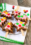 Christmas spicy cookies royalty free stock photos