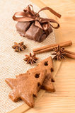 Christmas spicy gingerbread Stock Photos