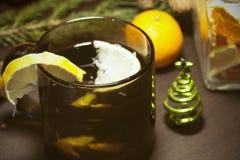 Christmas spicy tea Stock Photography
