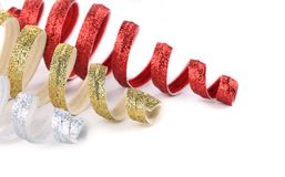 Christmas spiral toy red and golden. Stock Image