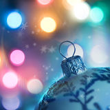 Christmas Spirit. Christmas Background with festive christmas baubles Stock Photography