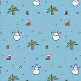 Christmas spirit pattern Stock Photos