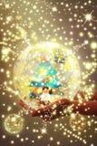 Christmas spirit postcard Royalty Free Stock Images