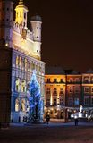 Christmas spirit in Poznan Stock Images