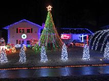 Christmas Spirit in Springfield Virginia Stock Photography