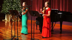 Christmas Spirit Violin Music stock footage