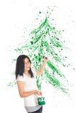 Christmas Splatter Stock Photos