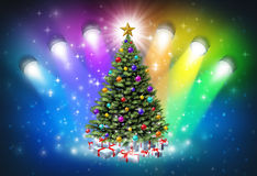 Christmas Spotlights Royalty Free Stock Photos