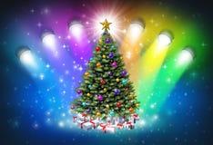 Christmas Spotlights Royalty Free Stock Photos