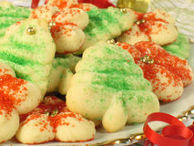 Christmas Spritz Cookies Royalty Free Stock Photography