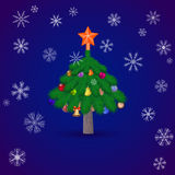 Christmas spruce tree. Vector illustration Stock Image