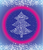 Christmas spruce. Vector. Stock Images