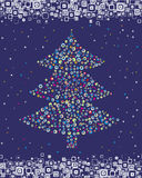 Christmas spruce. Vector. Royalty Free Stock Photos