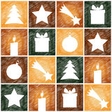 Christmas 4sq background pattern Stock Images