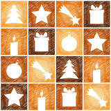 Christmas 4sq background pattern Royalty Free Stock Photo
