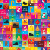 Christmas square cute seamless pattern Stock Photography