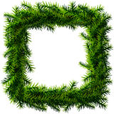 Christmas square wreath without decoration Stock Image