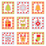 Christmas squares Royalty Free Stock Images