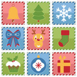 Christmas squares Stock Images
