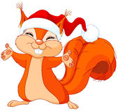 Christmas Squirrel Stock Photo